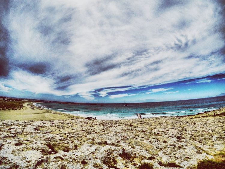 Sea Formentera Island Beach Water Scenics Sky Horizon Over Water Beauty In Nature Cloud - Sky Nature Sand Tranquil Scene Shore Tranquility Outdoors Vacations Day No People Ibiza