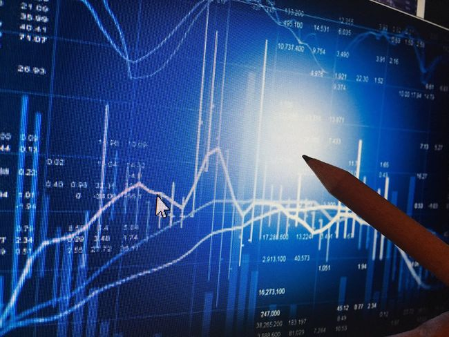 Graph Finance Data Analyzing Chart Stock Market And Exchange Financial Figures Success Business Investment Number Wealth Diagram Growth Report Making Money Technology Progress Savings Blue