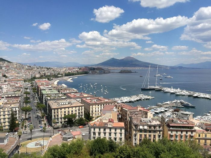 Naples Sea Water Architecture Day No People Yacht Sky Beautiful View Beautiful Colors Vesuvio Travel Destinations NoFilterNoEdition City Tranquility Boat Waiting For Summer No Filter, No Edit, Just Photography Italy🇮🇹 Panoramic Views Vesuviocoast Naples, Italy 2018 Sant'antonio A Posillipo