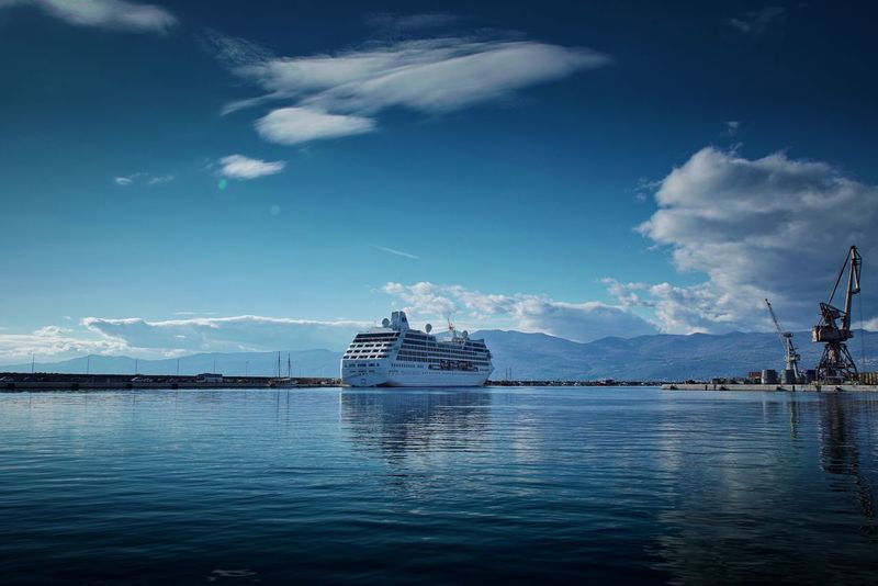Nautical Vessel Water Cloud - Sky Sea Waterfront Transportation Sailing No People Cruise Ship Cruising Ship Outdoors