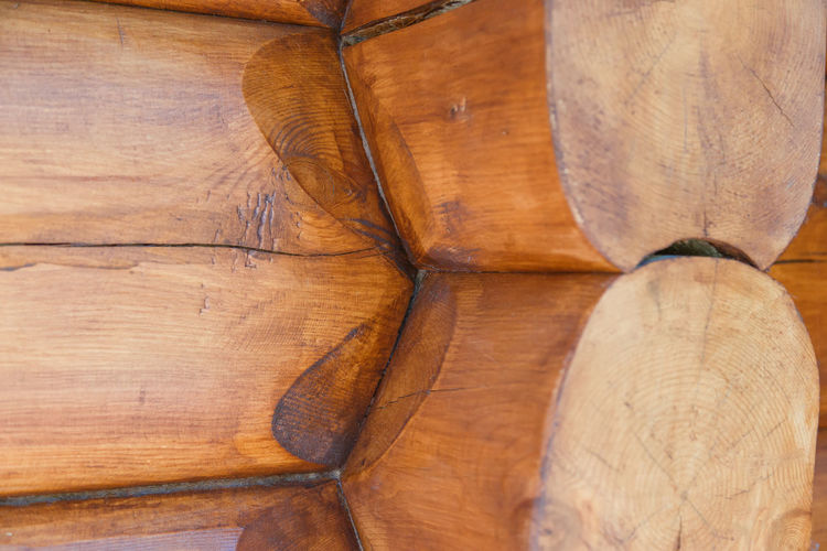High angle view of bread on wooden floor