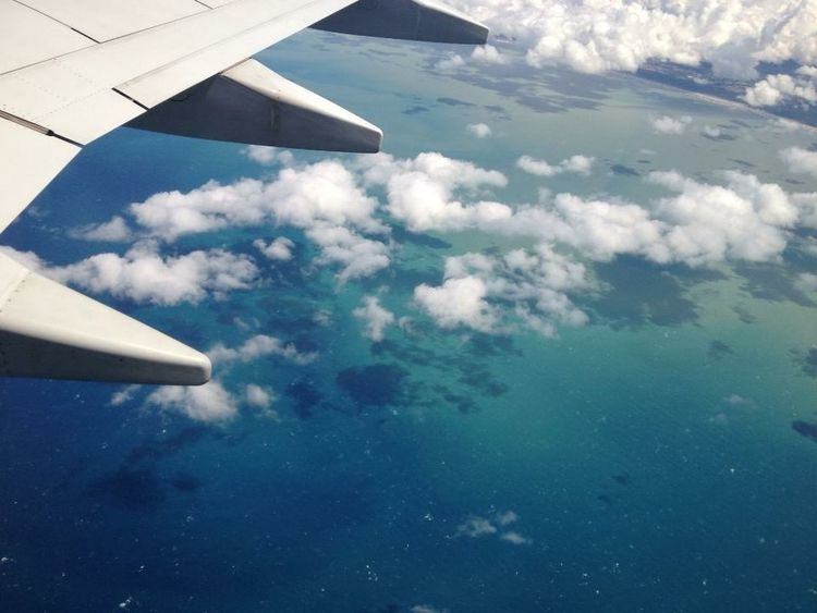 Flight Traveling Me Around The World Sea Eye4photography  What a wonderful sea, what a wonderful view! Clouds Europe Up In The Air Plane