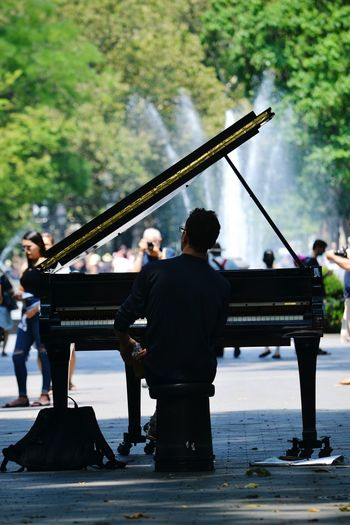 Piano Piano Playing NYC Greenwich Village Washington Square ParkNew York Street Photography New York City Fountain The Village NYC LIFE ♥ Washington Square Battle Of The Cities
