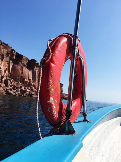 Boat Transportation sea Water cliff Outdoors