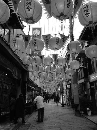 ランタンフェスティバル Festival Of Lights Black And White Black & White