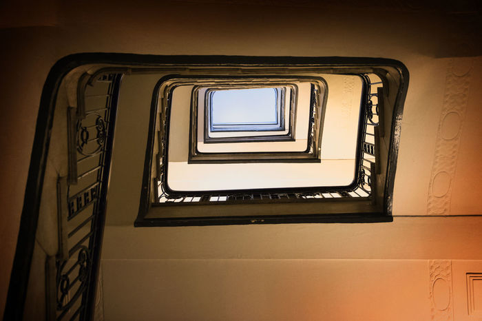 Architecture Stairs Below Built Structure Day Historic Indoors  Metaphor No People Old Railing Spiral Spiral Stairs Sqare Staircase Stairways Steps Steps And Staircases Sucsess Symbol Upwards