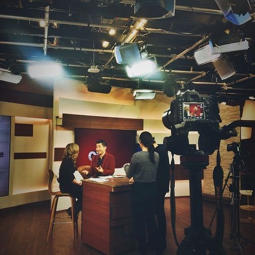 Shooting at the CityTV studio for Rogers .