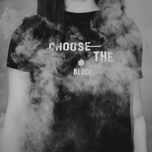 Fashion Fun Black Black And White Black Clothes Clothes Clothing Communication Fashion Photography Front View Girl Girls Model Obscured Face One Person Pollution Shirt Sign Smoke Text