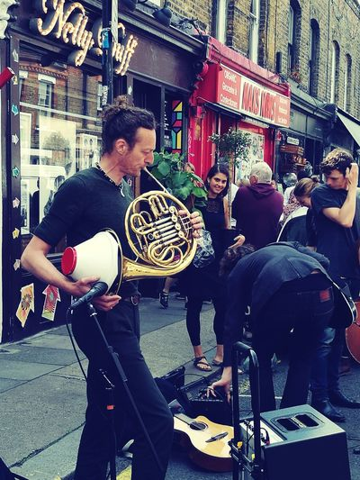 Street Musicians Columbia Road Flower Market East London French Horn