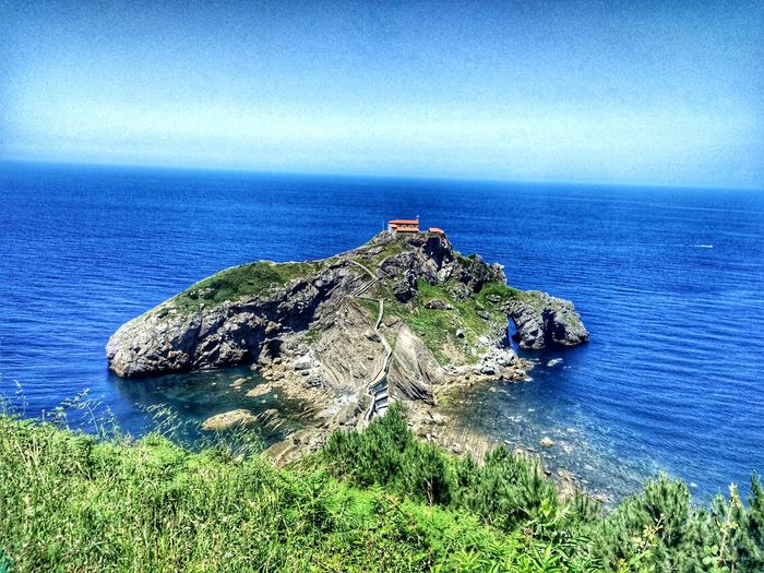 Sea Horizon Over Water Nature Water No People Tranquility Beauty In Nature Blue Ermita Ermita Gaztelugatxe Gaztelugatxe Bilbao Summer Exploratorium
