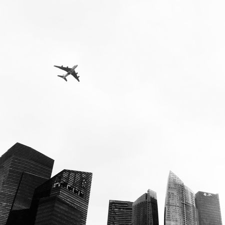 SIA380 flying for SG50 Sg50 Ndp2015 Minimalism Architecture Blackandwhite Plane