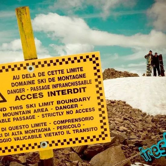 Snowboard My Passion France Lesdeuxalpes Danger area