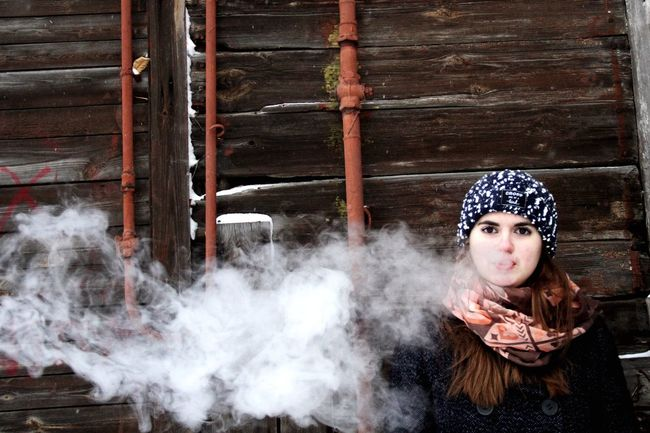 Place Of Worship Women Beautiful People Winter One Person Young Adult Portrait One Woman Only People Adults Only Incense Only Women One Young Woman Only Adult Outdoors Day Smoke Vape