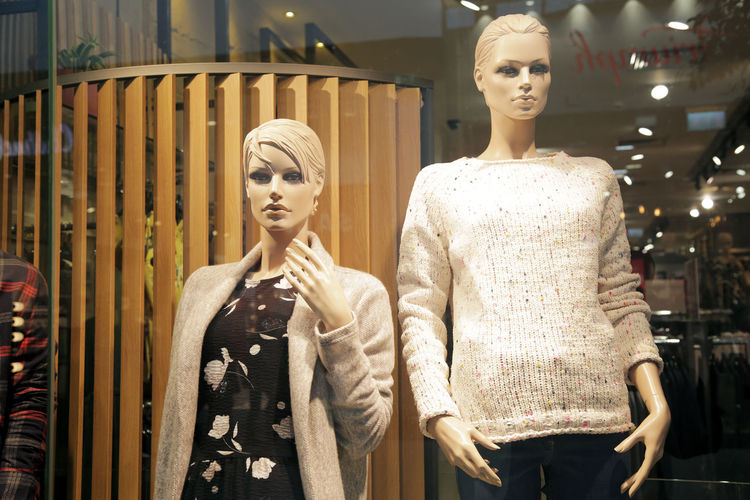 Full length of mannequin in store