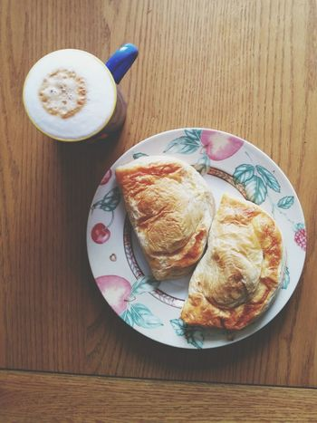 Food Porn Awards Welsh Bakery Pasty Pasties Lunch Coffee Cappuccino Coffee At Home