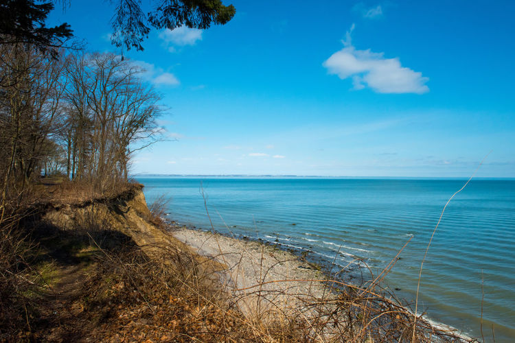 Brodtener Ufer Coastline Beach Beauty In Nature Blue Cliff Cloud - Sky Day Go-west-photography.com Horizon Horizon Over Water Land Marram Grass Nature No People Outdoors Plant Scenics - Nature Sea Sky Tranquil Scene Tranquility Tree Water