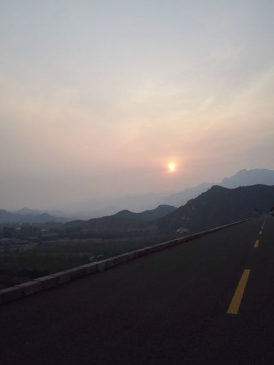 Sun set....those were the days hard work forever pays....hope to see you again.... Mountain Road Sky Transportation Nature Beauty In Nature Mountain Range The Way Forward No People Landscape Scenics Sunset Tranquility Outdoors Tranquil Scene Day Old Times