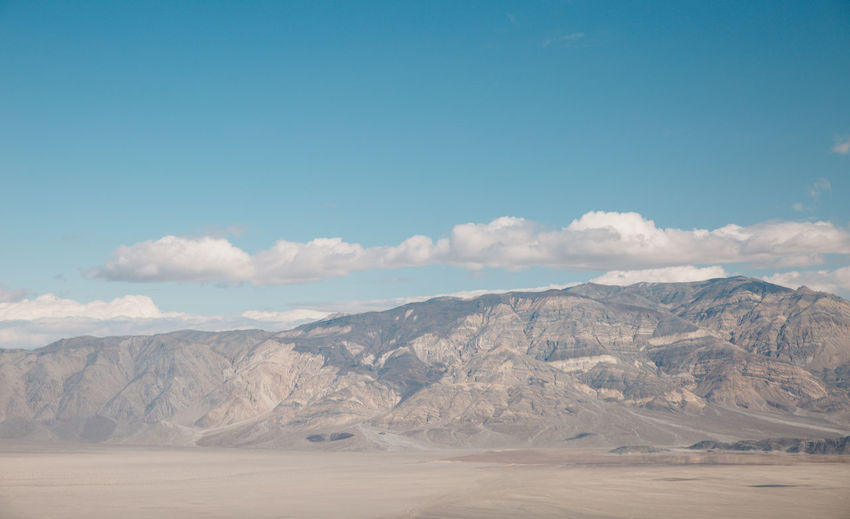 Arid Climate Arid Landscape Beauty In Nature Blue Sky Cloud - Sky Day Death Valley Death Valley National Park Desert Landscape Mountain Mountain Range Mountains Nature Nature No People Outdoors Physical Geography Roadtrip Salt - Mineral Scenics Sky Tranquil Scene Tranquility