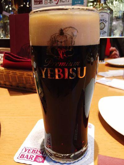 YEBISUのブラック頂き( ^ ^ )/□ Beer Beer Time 麦酒 YEBISU Beer