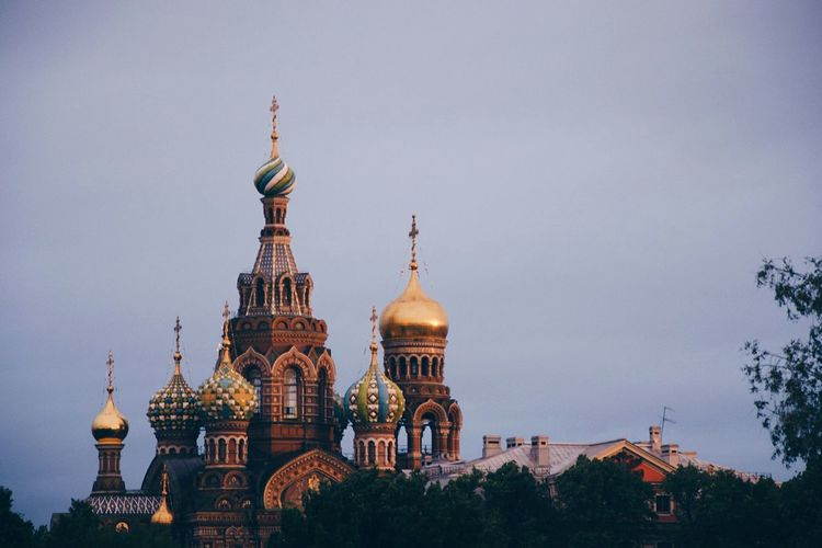 Church Russia Saint Petersburg Architecture Building Building Exterior Church Architecture City No People Outdoors Religion Sky