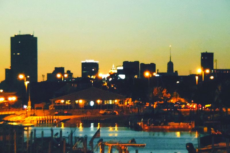 Creative Light And Shadow Cityscape from the waterfront of Buffalo NY at sunset. The silhouette of the city turned out so beautiful with minimum editing. Sunset Silhouettes Sunset_collection Waterfront Waterfrontview Cities_collection Buildings Boats⛵️ Water Reflections
