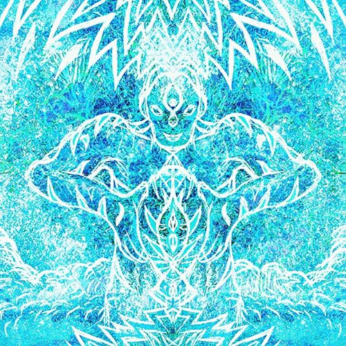 Entity Blue Abstract Nature Art Art, Drawing, Creativity Illustration Spirituality Visionary Psychedelic Trippy Shamanism