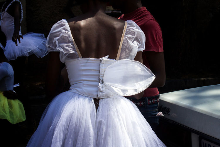 Rear View Of Ballet Dancer