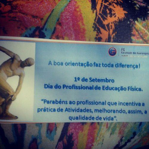 Comemorando o Dia do Profissional de Educaçao Física. @thaisollive Fg