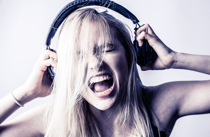 Scream Anger Blond Hair Close-up Day Headphone Headphones On, World Off. Headshot Human Hand Indoors  One Person People Portrait Real People Screaming Screamingfaces Shouting Studio Shot White Background Women Young Adult Young Women Inner Power EyeEmNewHere Teardrop Hands Covering Ears Banging Your Head Against A Wall Negative Emotion Relationship Difficulties Child Abuse Divorce This Is Queer End Plastic Pollution