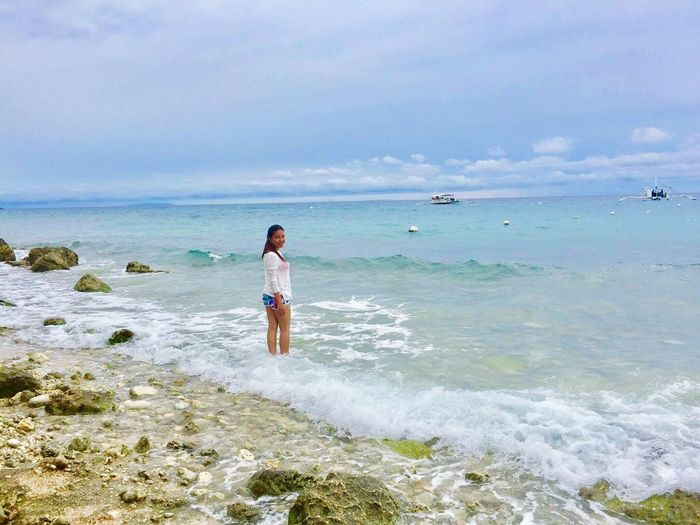 Finding New Frontiers whaleshark watching @oslob Cebu. Horizon Over Water One Person Beauty In Nature Full Length Lifestyles Beach Outdoors Rear View Nature Sea Sky Water