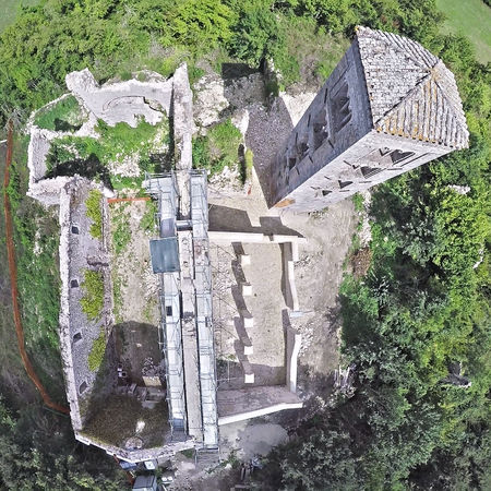 Santa Maria del Piano - Orvinio - Rieti Architecture Bell Tower Bird's Eye View Built Structure Day Drone  Drone Photography High Angle View Medieval Medieval Church Nadir No People Outdoors Restoration Restoration In Progress Restoration Of Monuments Restoration Project Flying High Go Higher