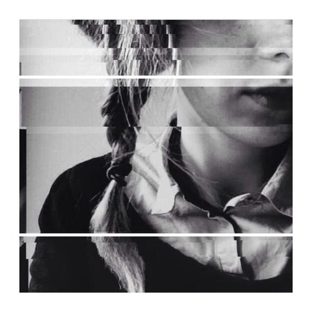 Blackandwhite Selfie Portrait Glitcheapp