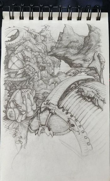 """""""Dragonridge"""" A work in progress, inspired by the floating mountains in Avatar. Showcase July Illustration Art Graphite Drawing Artwork By Me Fantasy Art Drawings Imagination Collection Art, Drawing, Creativity"""