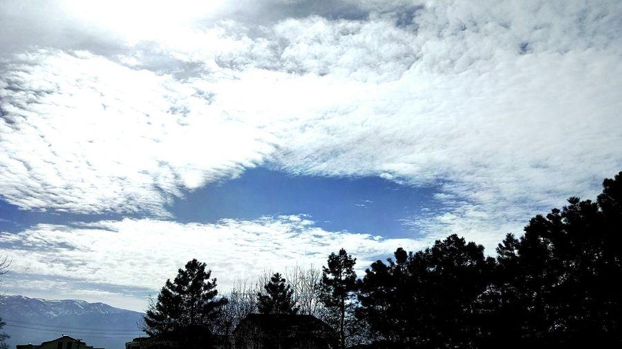 Nasılbirhavasınsen Nasılgüzel Bayılıyorum Bulutlara Sky And Clouds Skyline Blue Sky White Clouds Seviyorsam ⛅⛅