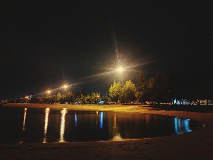 หาดแสงจันทร์ ระยอง P9 Oo Leica Huawei_P9 ๐๐LikhiT๐๐ Night Reflection Illuminated Water Outdoors No People Sky Beauty City