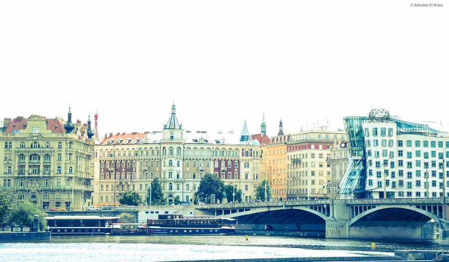 Building Exterior Architecture Clear Sky City Travel Destinations Built Structure Travel Outdoors Cityscape Prague Dancing House Urban Skyline Aboutgabriella Photography Travel Photography Panorama Cities Of Europe