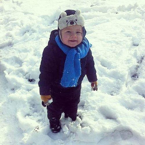 Littlecousin Antoś Antonio Snow Winter Cutechild Vscocam Outside Coldoutside Snowman Wintersun