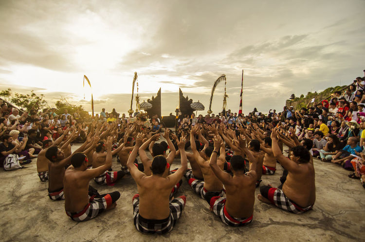 Bali Bali Culture DANCE ♥ Dance Traditional Clothing Arts Culture And Entertainment Bali Dance Dancer Kecak Dance Music Festival Outdoors Performance Sunset Togetherness Women