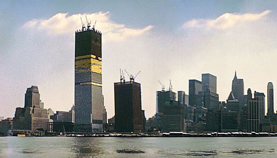 New York vintage image on 1970 about construction site of Twin Towers under construction on seventy. New York skyline from New Jersey side with World Trade Center and Lower Manhattan. New York New York City New York ❤ Historical Building Skyline Skyline New York 1970s Twin Towers Twin Tower Construction Site World Trade Center World Trade Center Memorial World Trade Center New York World Trade Center Building 1980s 1980s Style Manhattan New York Manhattan Skyline Manhattan 2000s Waterfront Skyscraper Sky And Clouds Blue Sky Built Structure Building Exterior Architecture Office Building Exterior Building City Sky Urban Skyline Water Tall - High Tower Office Landscape Cityscape Nature Travel Destinations Cloud - Sky No People Modern Financial District  Outdoors Spire