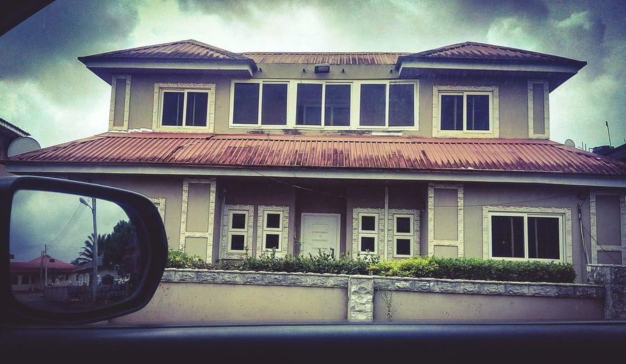 Camera view from the car.. Checking Out Eyeem Nigeria Colors EyeEm Best Edits Phone Photography Reflection Mirrorgraphy House Hello World Open Edit For Everyone
