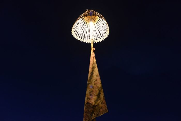 Batik Batik Lamp Black Sky Illuminated Lamp Low Angle View Night No People One Lamp Outdoors Sky