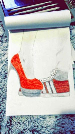 My Drawings ✏ Louboutin Adidas Love Not Finish