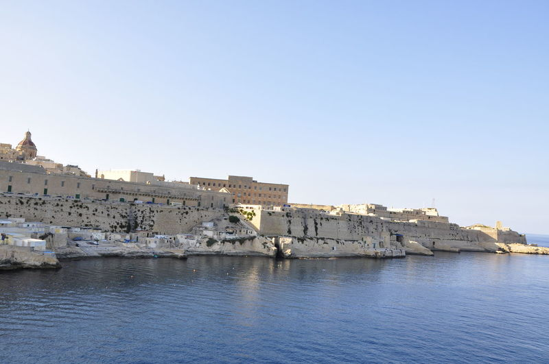 Architecture Clear Sky Harbor Malta Mediterranean  Outdoors Shore Town Travel Travel Destinations Travel Photography Water Waterfront
