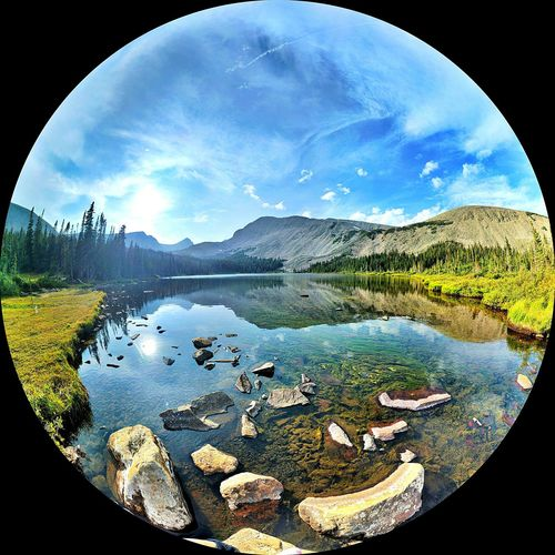September 2017, Lake Mitchell, Ward, Colorado Water Sky Reflection Nature Cloud - Sky Lake Mountain No People Beauty In Nature Scenics Outdoors Cool Places Vanlife Road Trip Tranquility Beauty In Nature Heavenly Mountain View Blue Lake Blue Waters Altitude Alpine Lake Vacations Fish-eye Lens Colorado EyeEmNewHere