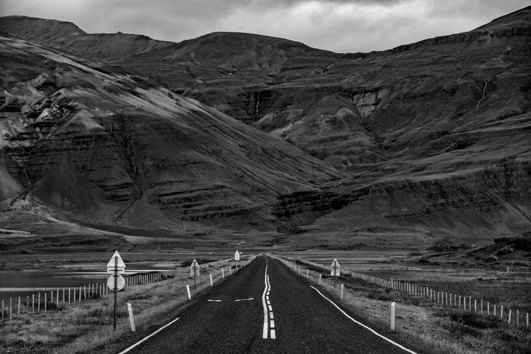 Beauty In Nature Day Endless Iceland Iceland_collection Landscape Mountain Mountain Range Mountain Road Nature No People Outdoors Road Road Scenics Sky Transportation