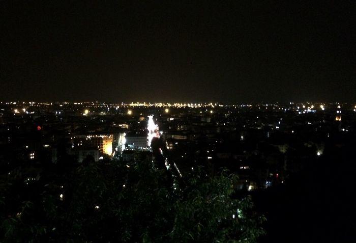 City Night Night Lights View Sky Nightphotography Bergamo Italy