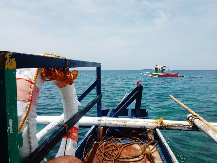 at sea Philippines Camiguin White Island EyeEm Selects Nautical Vessel Water Sea Oil Pump Sky Horizon Over Water