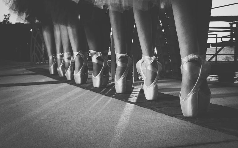 Low section of females performing ballet