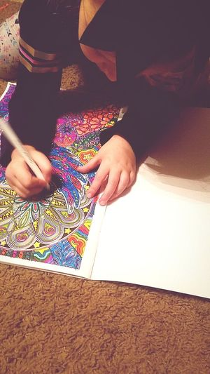 focus. Colors Colorful Markers  EyeEm Selects Human Body Part One Person Indoors  People Multi Colored Only Women Human Hand