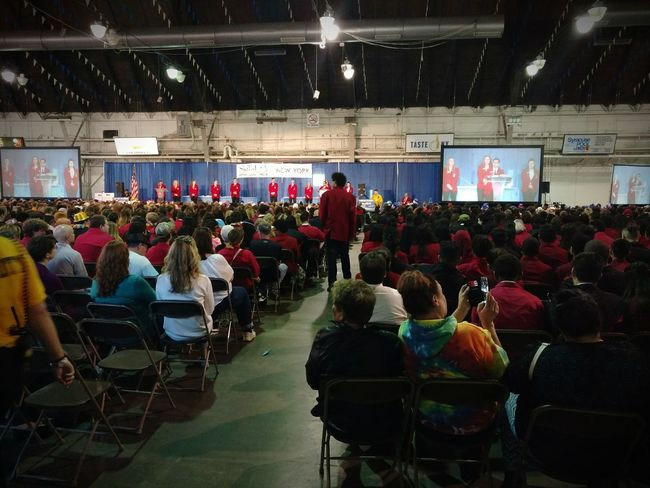 NY State fairgrounds, live streaming vocational student competition. Large Group Of People People Competition Award Ceremony